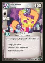 Plaid Stripes, Spoony card MLP CCG