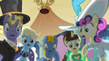 Ponies shocked by Celestia's defeat S2E26.png