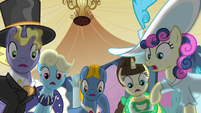 Ponies shocked by Celestia's defeat S2E26