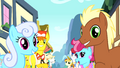 Ponies singing about Pinkie Pie S4E12.png