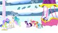 Princess Celestia congratulates Rainbow Dash S01E16.png