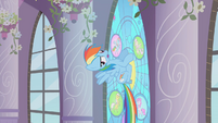 Rainbow Dash hitting the window S2E1