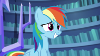 Rainbow Dash smiling nervously S5E21