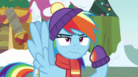 Rainbow Dash tosses the candle away MLPBGE