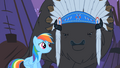 Rainbow Dash tries to reason with Thunderhooves S01E21.png
