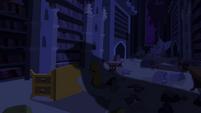 Sombra cainda sobre a biblioteca T4E03