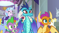 Spike, Ember, and Smolder meet Ocellus S8E1