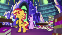 Sunset Shimmer sighing with relief EGS3