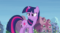Twilight glares at Rainbow Dash S03E12