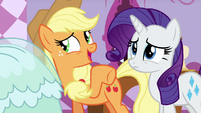 Applejack -holes in clothes and dirty dresses- S7E9