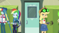 Applejack and Rainbow look behind at each other EGDS4.png