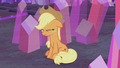 Applejack crying in the crystal mine S5E20.png