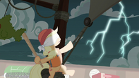 Applejack hears a lightning storm S6E22