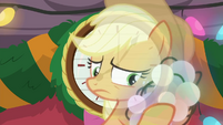 Applejack holding bundle of decorations BGES2