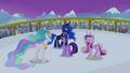 Celestia, Luna and Cadance singing around Twilight S4E25.png