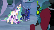 Celestia and Luna face the villains down S9E25