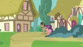 Filthy and Spoiled walking to the Ponyville Hospital S6E23.png