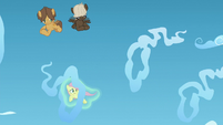 Fluttershy being levitated through cloud rings S5E26