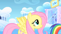 Fluttershy following Rainbow Dash S1E16