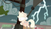 Lightning strikes behind Applejack S6E22