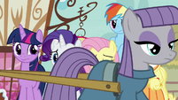 Maud Pie walks past main ponies S8E18