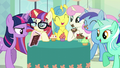 Photo of Twilight, Moon Dancer, and friends S5E12.png
