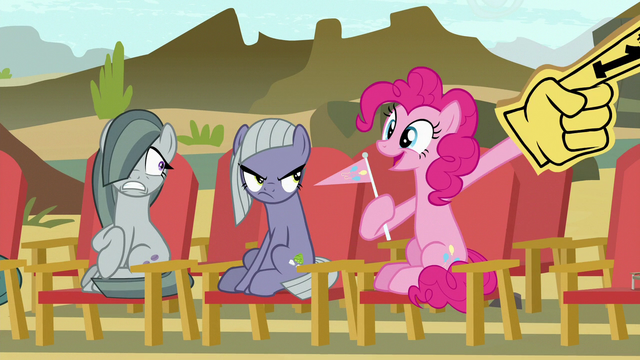 File:Pinkie Pie pulls out a foam finger S7E4.png