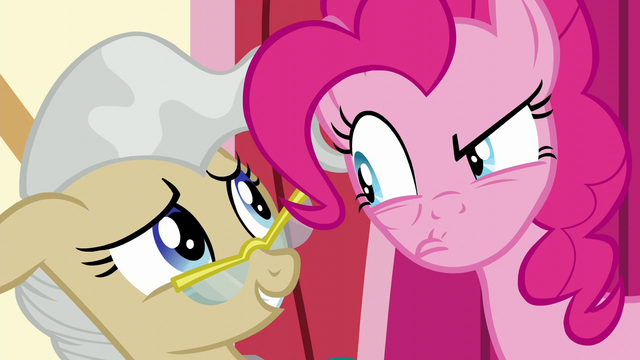 File:Pinkie glares disapprovingly at Mayor Mare S5E19.png