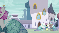 Ponies in Canterlot all wearing Princess Dresses S5E14