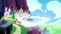 Ponies watching the Wonderbolts Derby S8E18
