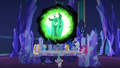 Queen Chrysalis appears in the communication window S6E25.png