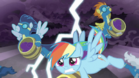RD and Wonderbolts dodging lightning S9E17
