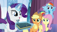 "Rarity ""choosing the crystal of purity"" S6E1"