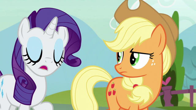 "File:Rarity ""it's just Strawberry's honest opinion"" S7E9.png"