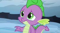 Spike saddened by Thorax's story S6E16