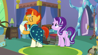 Sunburst yawning with fatigue S7E24