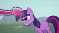 Twilight Sparkle firing a magic laser beam BFHHS3
