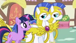 Twilight Sparkle kungliga vakter Ponyville vagn S1E01