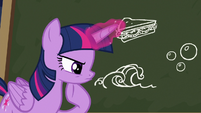 Twilight Sparkle thinking intently S6E22