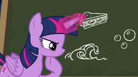 Twilight Sparkle thinking intently S6E22