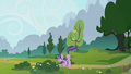 Twilight swats away parasprites with her tail S1E10.png
