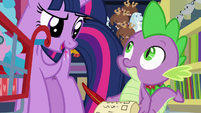 "Twilight to Spike ""and more efficient"" S7E3"