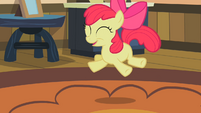 Apple Bloom jumping with joy S2E12