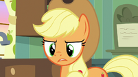 Applejack wondering about Granny's help S9E10