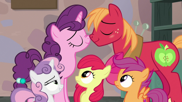 File:CMCs watch Big Mac and Sugar Belle act lovey-dovey S7E8.png