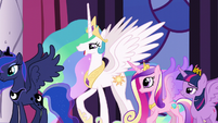 "Celestia ""Princess Cadance will dedicate"" S5E10"