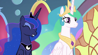Celestia and Luna perfectly happy S9E1