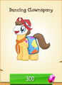 Dancing Clownspony MLP Gameloft.png