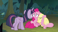 Fake Twilight tells Pinkie and Fluttershy to stay put S8E13