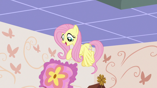 File:Fluttershy dropping the throw pillow S7E12.png